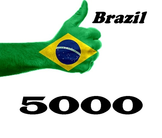 I will drive 5000 Brazil human real Traffic with extras