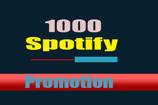 I will Give 1000 Spotify Plays