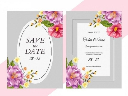 I will design a very beautiful wedding card