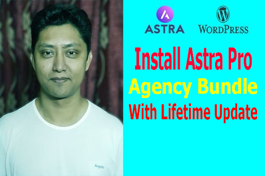 I will install Astra pro theme with lifetime license key