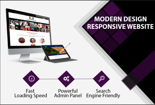 I will  create Modern and responsive website design