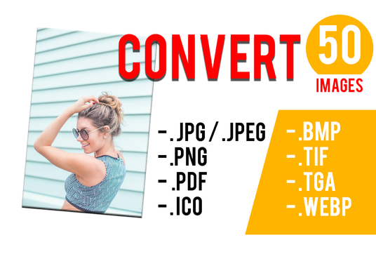 I will converting 50 images to any format