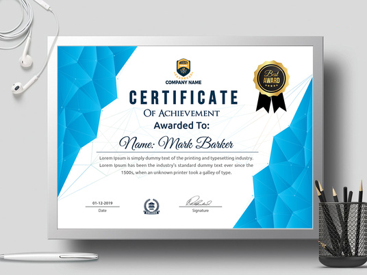 I will design any kind Certificate