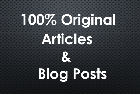 I will write Creative blogs and articles for you