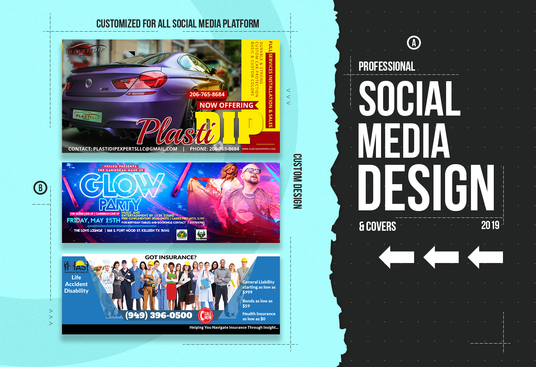 I will design a professional facebook cover or social media banner