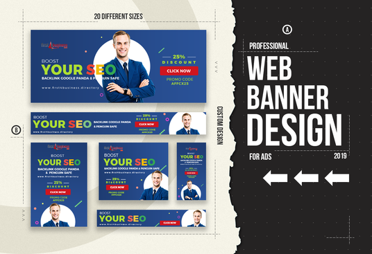 I will design professional web banners or affiliate banners for ads