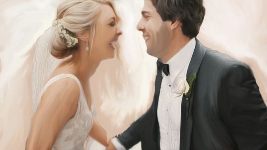 I will turn your wedding photo into a great digital or oil painting