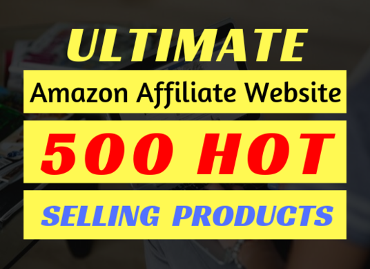 I will deliver the best amazon affiliate website with 500 best products