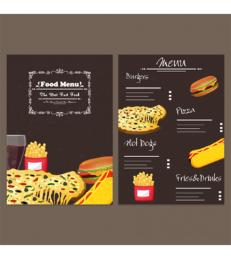 design modern and classy restaurant, cafe, hotel menu card