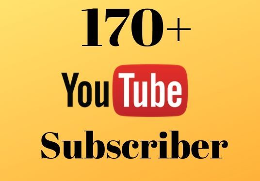 I will give you 170+ real youtube subscribers