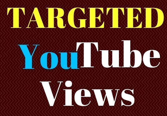 I will deliver 1000 Targeted YouTube views
