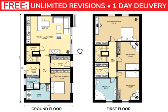 I will redraw floor plan for real estate agent, property manager