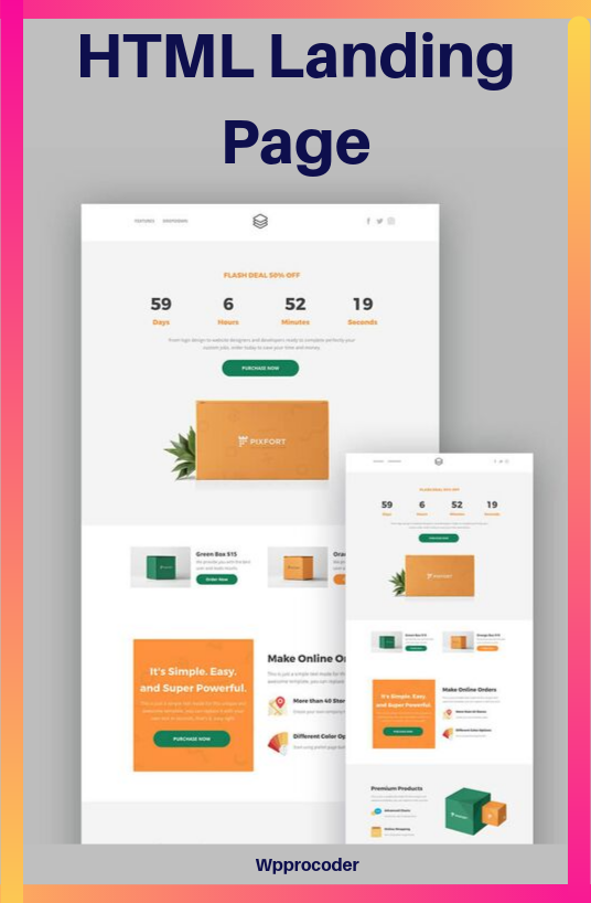 I will Create Responsive HTML Landing Page
