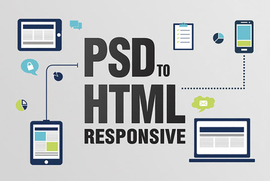 I will convert psd to html, convert psd to html with responsive