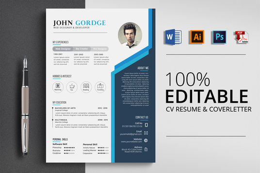 I will design a clean and attractive resume