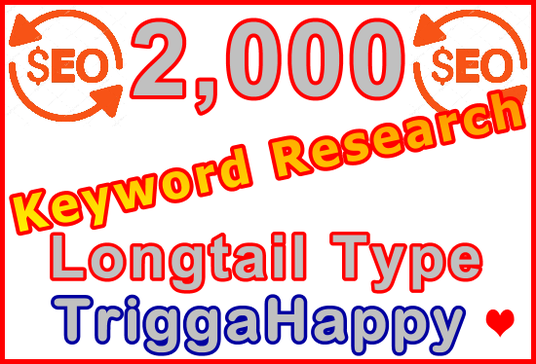 I will Research 2,000 Longtail Type Keywords