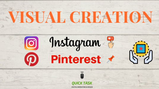 create personalised and qualitative visual content for your Instagram or Pinterest page