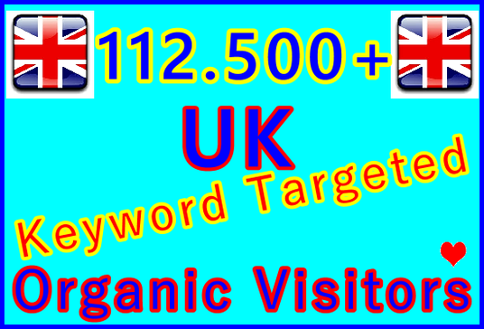 I will Drive 112,500 Keyword Targeted Organic UK Visitors from Top Search Engines for 30 Days