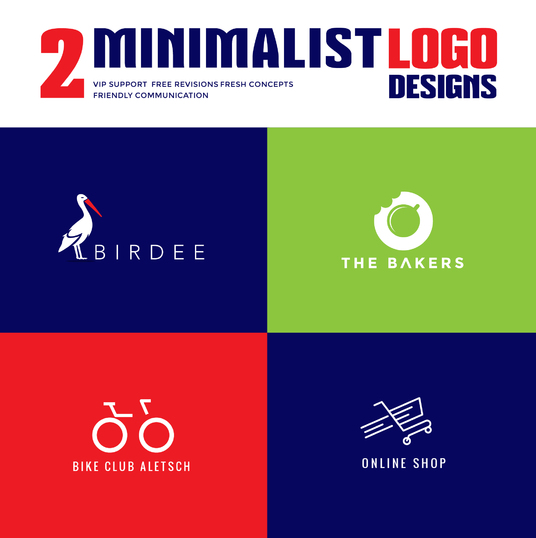 I will do 2 Minimalist Logo designs