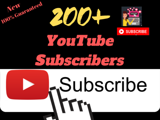 I will Give You Outstanding Real Permanent 200 YouTube Subscribers Manually