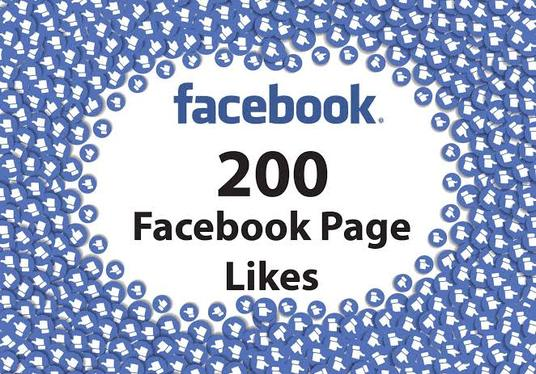 I will give you Facebook Fan-page Worldwide 200+ Likes