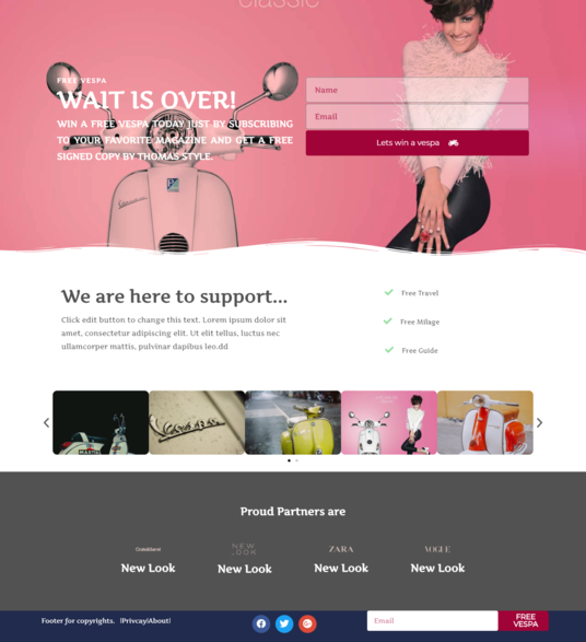 I will design converting landing page using Elementor