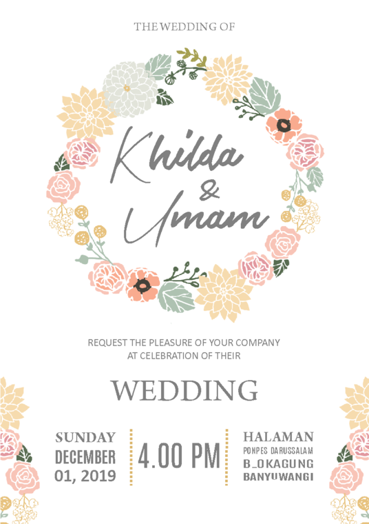I will design the beautiful wedding invitation for your beautiful day