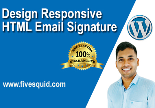 I will design responsive html email signature