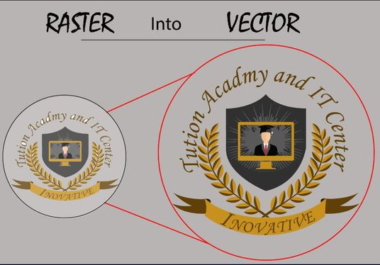 I will redesign your existing logo or convert it from Raster into Vector