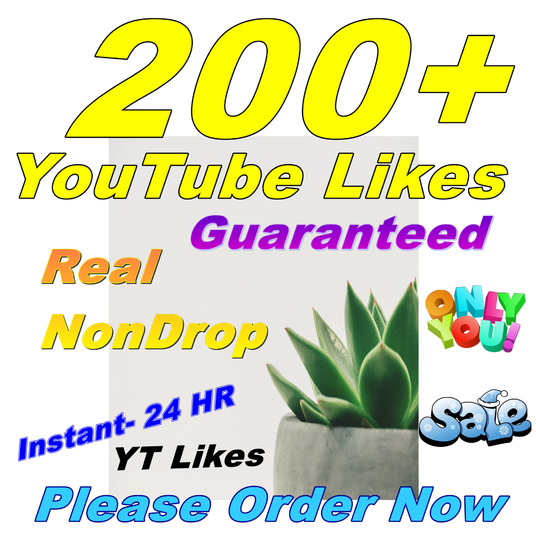 I will Give You Real 200 YouTube Likes Lifetime Guaranteed