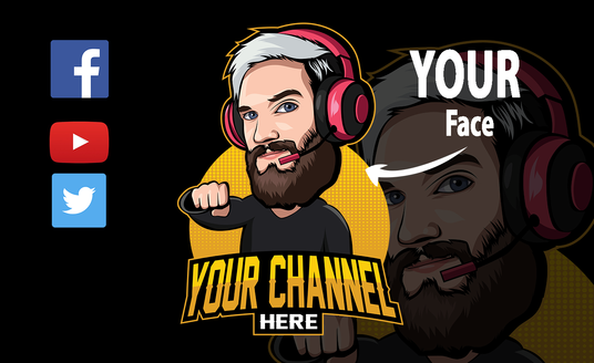I will create avatar, twitch, gaming, youtube logo