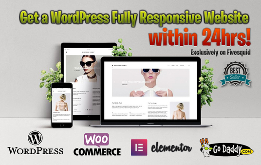 I will design a Fully Responsive WordPress Website