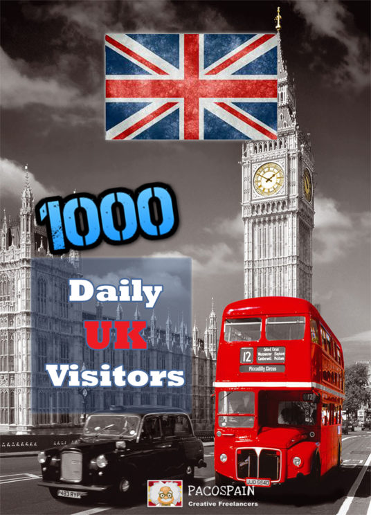 I will send 1000 UK Targeted Visitors for 30 Days - Low bounce rate