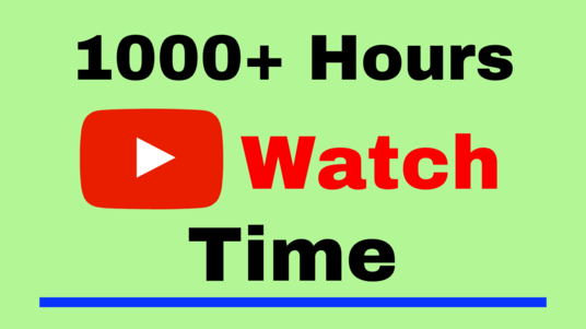I will provide 1000+ hours watch time