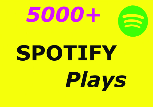 I will give you 5000+ spotify plays