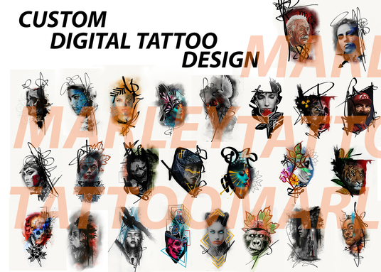 I will create digital tattoo design for motive that you want