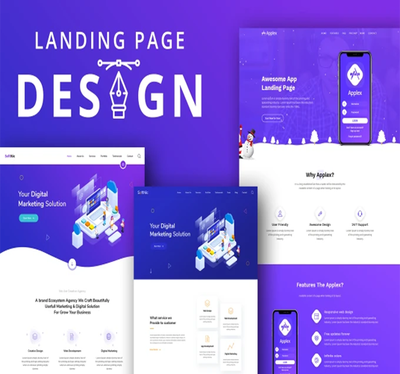 Create a professional web  landing page