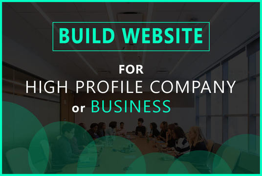 I will build a High Profile company website, business website