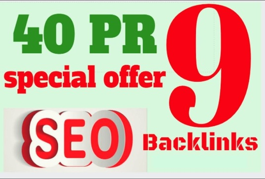 I will Boost your google ranking SEO  with 40 Pr9 High Authority Backlinks