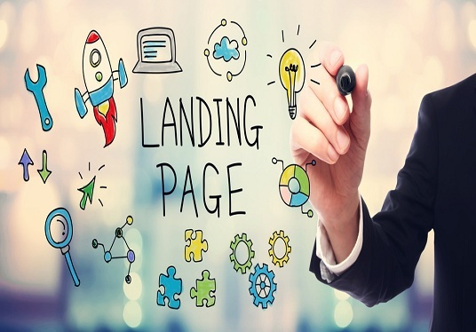 make a landing page or one-page website