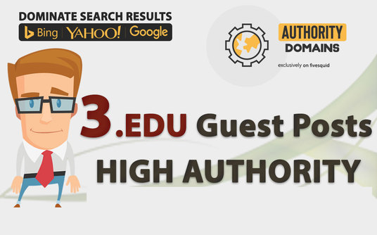 I will Publish 3 Real Guest Posts on Powerful EDU Sites