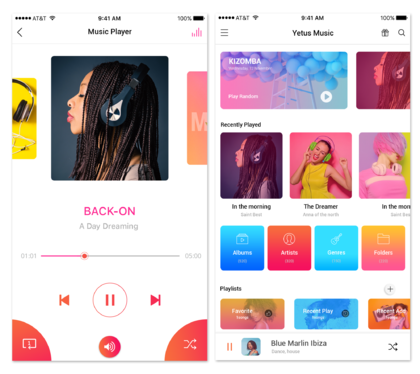 design attractive UI for your ios, android app and website