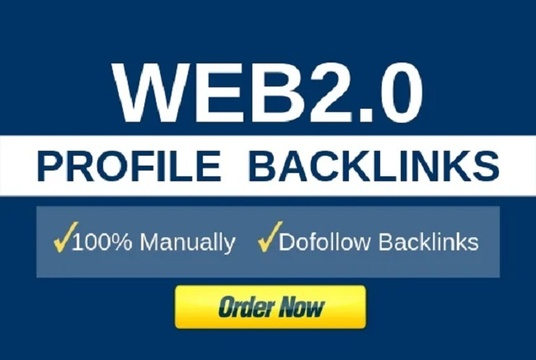I will Create 30 Web2.0 Profile Links From High PR Sites