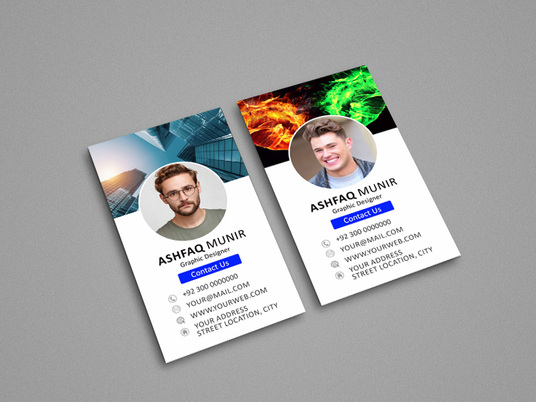 I will design facebook profile style business cards