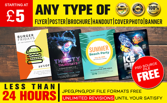 I will design creative Flyer, Poster, Brochure in less than 24 hours