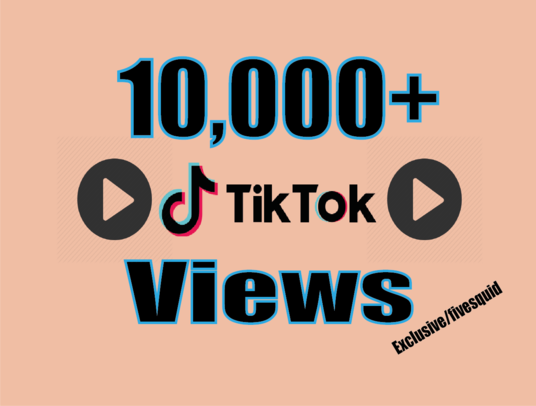 I will provide fast 10,000+ TIKTOK Videos views