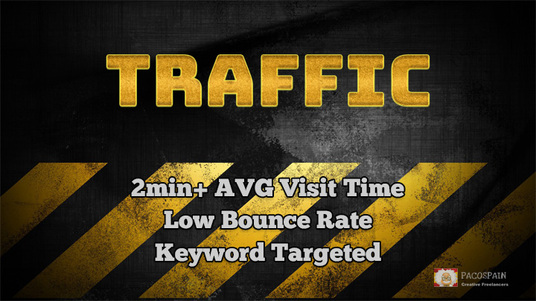 provide long duration, keyword targeted high quality traffic with low bounce rate