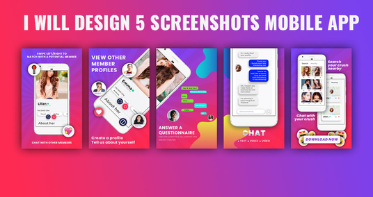 I will Design Amazing And Creative Screenshots For Your Mobile App