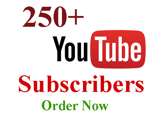 I will Provide Best Organic 250+ High Quality YouTube Subscribers
