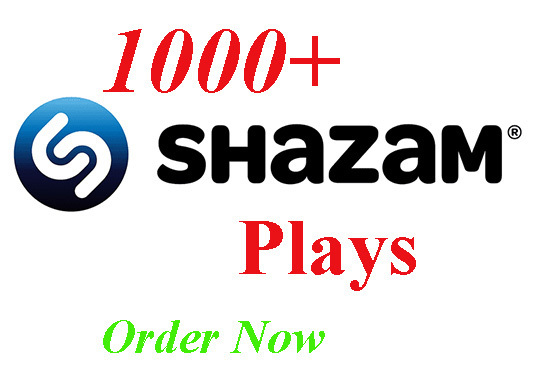 I will Provide You Best Organic USA 1000+ Shazam Music Plays